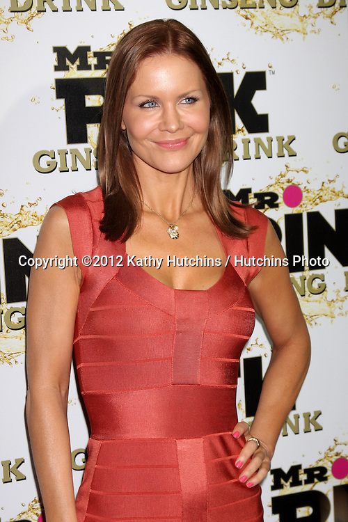 """LOS ANGELES - OCT 11:  Josie Davis arrives at the """"Mr. Pink"""" Energy Drink Launch at Beverly Wilshire Hotel on October 11, 2012 in Beverly Hills, CA"""