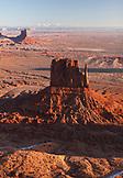 USA, Arizona, Utah, aerial view of Monument Valley, Navajo Tribal Park