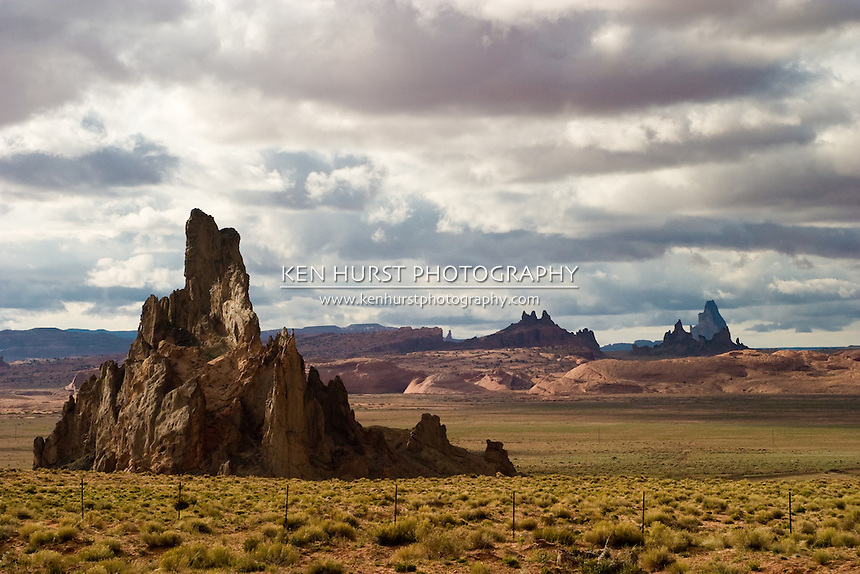 Rock formations near the four corners region and Monument Valley, Utah.
