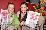 FASHION PASSION: Fiona Hyde and Cliodhna Foley announcing details of a fashion show at Sol y Sombra in Killorglin in aid of cystic fibrosis and autism charities.