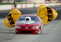 Sept. 1, 2012; Claremont, IN, USA: NHRA pro stock driver Steve Schmidt during qualifying for the US Nationals at Lucas Oil Raceway. Mandatory Credit: Mark J. Rebilas-