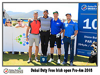 Pablo Larrazabel (ESP) team on the 10th tee during Wednesday's Pro-Am of the 2018 Dubai Duty Free Irish Open, held at Ballyliffin Golf Club, Ireland. 4th July 2018.<br /> Picture: Eoin Clarke | Golffile<br /> <br /> <br /> All photos usage must carry mandatory copyright credit (&copy; Golffile | Eoin Clarke)