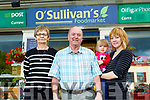 Currow Postmaster Gerard O'Sullivan with Mary O'Loughlin, Maura and Ellie O'Mahony outside the Currow Post Office on Friday.