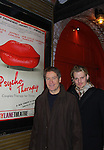 """All My Children's Jeffrey Carlson """"Zoe/Zarf"""" and Laurence Lau (L) """"Greg Nelson, OLTL Sam Rappaport, Another World """"Jamie Frame"""" and As The World Turns star in Psycho Therapy on January 22, 2012 at the Cherry Lane Theatre, New York City, New York. (Photo by Sue Coflin/Max Photos)"""