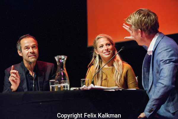 Utrecht, 25 september 2014<br /> Nederlands Film Festival<br /> Talkshow o.l.v. Art Rooijakers<br /> regisseur Joram L&uuml;rsen en actrice Sarah Chronis van Bloedlink<br /> Foto Felix Kalkman