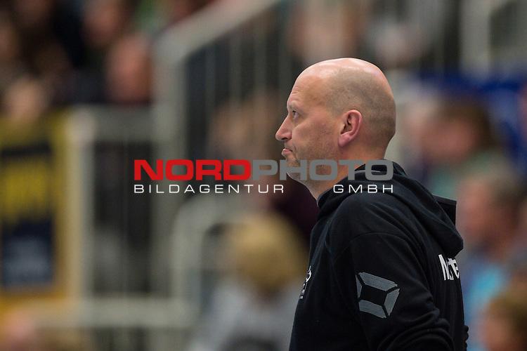 18.01.2015, Halle Berg Fidel, Muenster<br /> Volleyball, Bundesliga Frauen, USC MŸnster / Muenster vs. Kšpenicker / Koepenicker SC<br /> <br /> Axel BŸring / Buering (Trainer / Coach USC Muenster)<br /> <br />   Foto &copy; nordphoto / Kurth