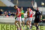 Michael Geaney Kerry in action against  Cork in the National Football league in Austin Stack Park, Tralee on Sunday.