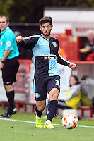 Joe Jacobson of Wycombe Wanderers in action during the Sky Bet League 2 match between Stevenage and Wycombe Wanderers at the Lamex Stadium, Stevenage, England on 17 October 2015. Photo by PRiME Media Images.