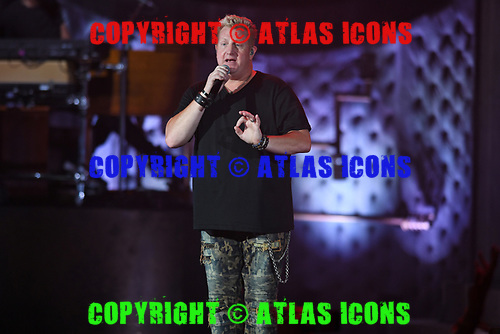WEST PALM BEACH, FL - JULY 21: Gary LeVox of Rascal Flatts performs at The Coral Sky Amphitheatre on July 21, 2018 in West Palm Beach Florida. Credit Larry Marano © 2018