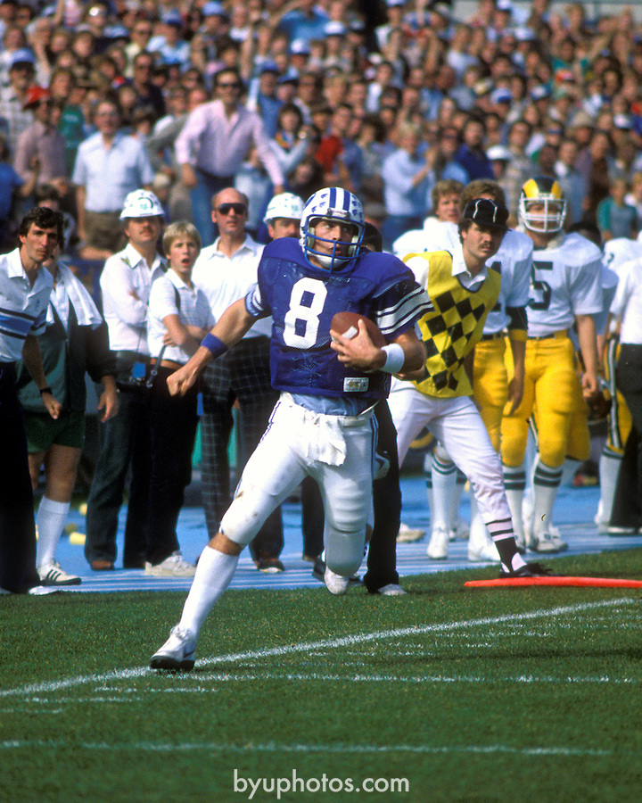 Oct 1982<br /> <br /> 8 Steve Young<br /> <br /> Photo by: Mark Philbrick/BYU<br /> &copy; BYU PHOTO 2010<br /> All Rights Reserved<br /> photo@byu.edu  (801)422-7322