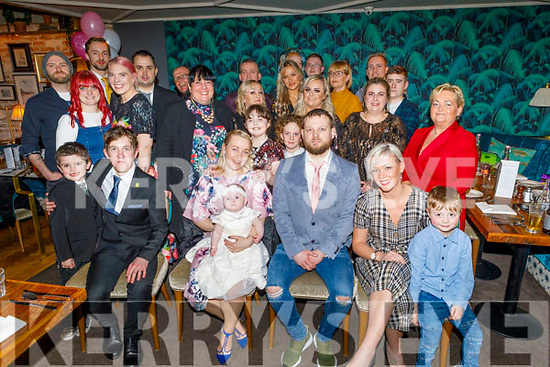 Christening party of Emilia Colloff from Tralee in the Ashe Hotel on Saturday.<br /> Seated l to r: Conor Colloff (GF), Lisa (Mom), Emilia and (Dad) Paul Colloff, Emma Waldron (GM) and Dylan Fehane.