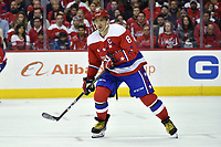 WASHINGTON, DC - MARCH 26: Washington Capitals left wing Alex Ovechkin (8) reads the play during the Carolina Hurricanes vs. Washington Capitals NHL game March 26, 2019 at Capital One Arena in Washington, D.C.. (Photo by Randy Litzinger/Icon Sportswire)