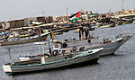 Palestinian flag raised on a boat in Gaza Port  , in Gaza City on Oct. 17,2010  . Photo by Ashraf Amra