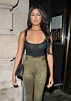 Farah Sattaur at the 1883 Magazine Royalty Issue launch party, Cuckoo Club, Swallow Street, London, England, UK, on Thursday 09 August 2018.<br /> CAP/CAN<br /> &copy;CAN/Capital Pictures