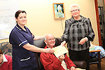 Relief Nurse Manager Lorraine Clerkin with Fundraising Organisers Helena Nevin and Jim Kelly at the Presentation in the Laurence gate day Care Centre. Pictured here with the new chair bought with the cash raised...(Photo credit should read Jenny Matthews www.newsfile.ie)....This Picture has been sent you under the conditions enclosed by:.Newsfile Ltd..The Studio,.Millmount Abbey,.Drogheda,.Co Meath..Ireland..Tel: +353(0)41-9871240.Fax: +353(0)41-9871260.GSM: +353(0)86-2500958.email: pictures@newsfile.ie.www.newsfile.ie.