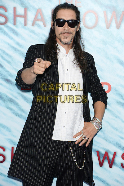NEW YORK, NY - JUN 21: Oscar Jaenada attends the World Premiere of &quot;The Shallows&quot; at the AMC Loews Lincoln Square Cinemas on June 21, 2016 in NEW YORK CITY.<br /> CAP/LNC/TOM<br /> &copy;TOM/LNC/Capital Pictures