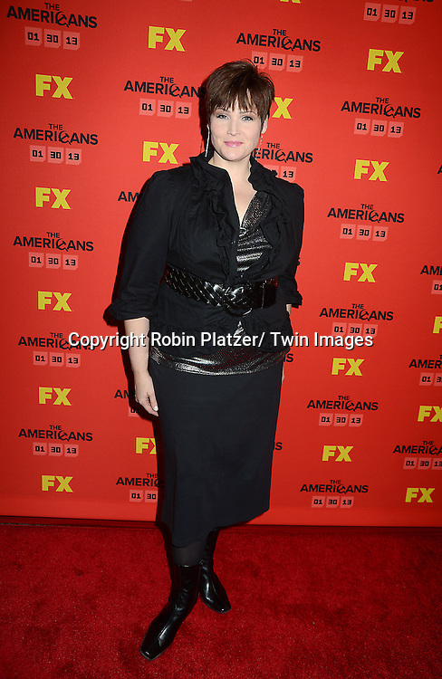 "Lisa Howard attends the premiere screening in New York City of ""The Americans"" on January 26, 2013 at The DGA Theatre. The tv series will be on FX starting on January 30, 2013 and stars Keri Russell, Matthew Rhys, Noah Emmerich, Holly Taylor and Keidrick Sellati."