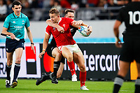 1st November 2019, Tokyo, Japan;  Hallam Amos (WAL) finds his run stopped;  2019 Rugby World Cup 3rd place match between New Zealand 40-17 Wales at Tokyo Stadium in Tokyo, Japan.  - Editorial Use