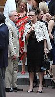 June 30, 2012 Lorne Michaels, Alice Barry attend the Alec Baldwin and Hilaria Thomas Wedding Day at Basilica of St. Patrick's Old Cathedral in Little Italy in New York City.Credit:© RW/MediaPunch Inc. /*NORTEPHOTO.COM*<br /> *SOLO*VENTA*EN*MEXiCO* *CREDITO*OBLIGATORIO** *No*Venta*A*Terceros* *No*Sale*So*third* ***No Se*Permite*Hacer*Archivo** *No*Sale*So*third*©Imagenes con derechos de autor,©todos reservados. El uso de las imagenes está sujeta de pago a nortephoto.com El uso no autorizado de esta imagen en cualquier materia está sujeta a una pena de tasa de 2 veces a la normal. Para más información: nortephoto@gmail.com* nortephoto.com.