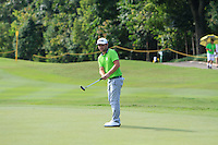 Andy Sullivan (ENG) on the 3rd green during Round 3 of the Maybank Malaysian Open at the Kuala Lumpur Golf & Country Club on Saturday 7th February 2015.<br /> Picture:  Thos Caffrey / www.golffile.ie