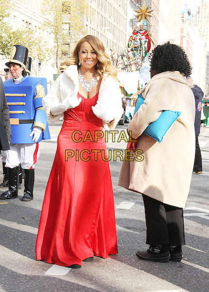 NEW YORK, NY - NOVEMBER 26: Mariah Carey at the 89th Annual Macy's Thanksgiving Day Parade in New York City on November 26, 2015. <br /> CAP/MPI/RW<br /> &copy;RW/MPI/Capital Pictures