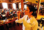 California, San Francisco: Tasting wine paired with cheese at Cellar360.Photo #: 9-casanf75993.Photo © Lee Foster 2008