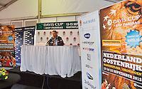 03-09-13,Netherlands, Alphen aan den Rijn,  TEAN, Tennis, Tean International Tennis Tournament 2013, Tean International ,   Press-conference Davis cup NED-AUT<br /> Photo: Henk Koster