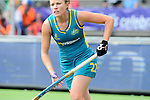 The Hague, Netherlands, June 14: Kate Jenner #22 of Australia looks on during the match during the field hockey gold medal match (Women) between Australia and The Netherlands on June 14, 2014 during the World Cup 2014 at Kyocera Stadium in The Hague, Netherlands. Final score 2-0 (2-0)  (Photo by Dirk Markgraf / www.265-images.com) *** Local caption ***