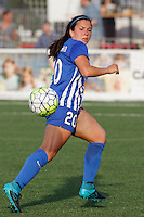 Rochester, NY - Friday May 27, 2016: Boston Breakers defender Mollie Pathman (20). The Western New York Flash defeated the Boston Breakers 4-0 during a regular season National Women's Soccer League (NWSL) match at Rochester Rhinos Stadium.