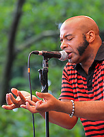 Daniel Chavis of New York based Shoegaze rockers Apollo Heights performs at Summer Stage Concert Series in Central Park, NYC