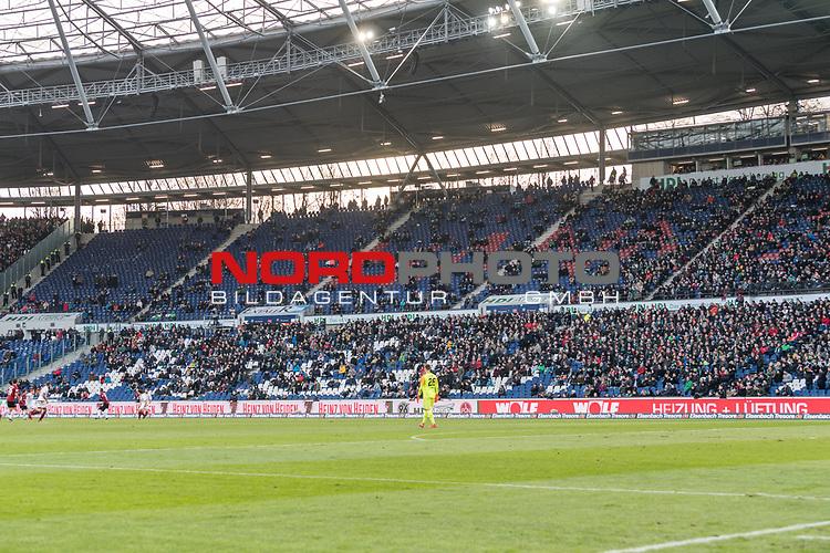 09.02.2019, HDI Arena, Hannover, GER, 1.FBL, Hannover 96 vs 1. FC Nuernberg<br /> <br /> DFL REGULATIONS PROHIBIT ANY USE OF PHOTOGRAPHS AS IMAGE SEQUENCES AND/OR QUASI-VIDEO.<br /> <br /> im Bild / picture shows<br /> Gro&szlig;e L&uuml;cken / Leere R&auml;nge beim Kellerduell, lt. offizieller Meldung kamen 33.700 Zuschauer / Fans ins Hannover 96 Stadion, <br /> <br /> Foto &copy; nordphoto / Ewert