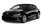 2017 Volkswagen Scirocco R Line 5 Door Hatchback angular front stock photos of front three quarter view