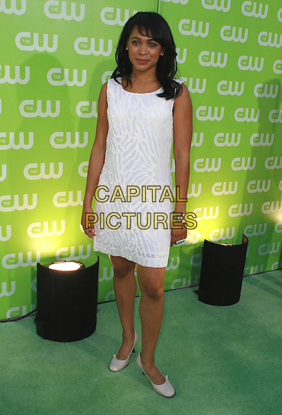 VALERIE RAE MILLER.CW All Star Summer TCA 2007 Party held at the Pacific Design Center, West Los Angeles, California, USA,.20 July 2007..full length white shift dress.CAP/ADM/CH.©Charles Harris/AdMedia/Capital Pictures.