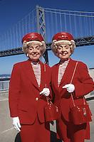 San Francisco, USA 1994 . Marian and Vivian Brown, the famous San Francisco Twins.