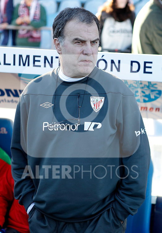 Athletic de Bilbao's coach Marcelo Bielsa during La Liga Match. January 08, 2012. (ALTERPHOTOS/Alvaro Hernandez)