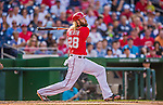 19 September 2015: Washington Nationals outfielder Jayson Werth in action against the Miami Marlins at Nationals Park in Washington, DC. The Nationals defeated the Marlins 5-2 in the third game of their 4-game series. Mandatory Credit: Ed Wolfstein Photo *** RAW (NEF) Image File Available ***