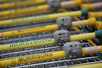 Shopping trolleys at a Morrisons super market