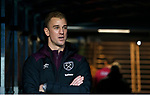 Former Manchester City player Joe Hart now of West ham United stands in the tunnel and watches the warm up during the premier league match at the Etihad Stadium, Manchester. Picture date 3rd December 2017. Picture credit should read: Andrew Yates/Sportimage
