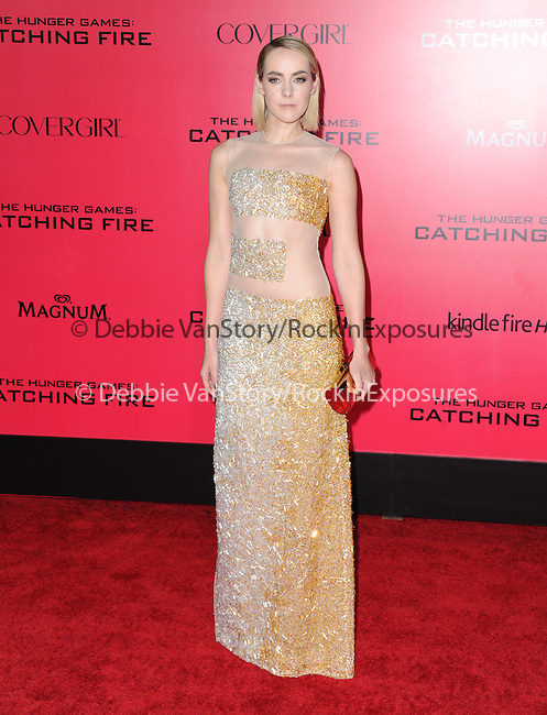 LOS ANGELES, CA - NOVEMBER 18: Jena Malone arrives at   THE HUNGER GAMES: CATCHING FIRE L.A. Premiere held at Nokia Live  in Los Angeles, California on November 18,2012                                                                               © 2013  Hollywood Press Agency