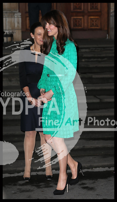 The Duchess of Cambridge at  the Natural History Museum in London, where she opened the new Treasures Gallery, Tuesday, 27th November 2012. .Photo by: Stephen Lock / i-Images / DyD Fotografos