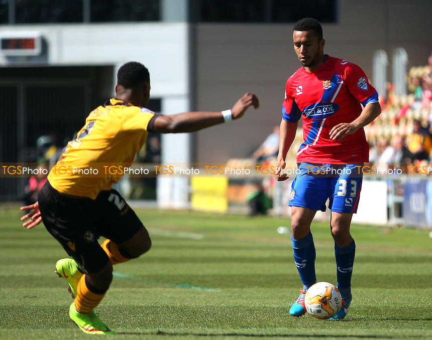 Joe Widdowson of Dagenham and Redbridge - Newport County AFC Dagenham and Redbridge - Sky Bet League Two action at the Rodney Parade Stadium on 18/04/15 - MANDATORY CREDIT: Dave Simpson/TGSPHOTO - Self billing applies where appropriate - 0845 094 6026 - contact@tgsphoto.co.uk - NO UNPAID USE