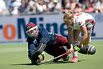GER - Mannheim, Germany, May 27: During the women semi-final match between UHC Hamburg and Rot-Weiss Koeln at the Final4 tournament May 27, 2017 at Am Neckarkanal in Mannheim, Germany. (Photo by Dirk Markgraf / www.265-images.com) *** Local caption *** Yvonne Frank #27 of Uhlenhorster HC Hamburg, Paula Velmans #13 of Rot-Weiss Koeln