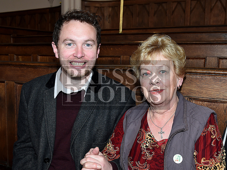 Cllr Paddy meade and Eileen Traynor at the Save the Church launch in Collon Church of Ireland. Photo:Colin Bell/pressphotos.ie