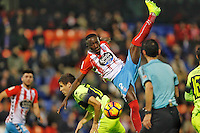 17 de Febrero 2017 Lugo.- Estadio Anxo Carro. Partido Segunda división, liga 1,2,3 Jornada 26. Lugo vs Elche