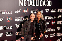 Lars Ulrich (L) and Kirk Hammett of Metallica attend the premiere of 'Metallica: Through The Never' at Callao cinema on October 9, 2013 in Madrid, Spain. (ALTERPHOTOS/Victor Blanco)