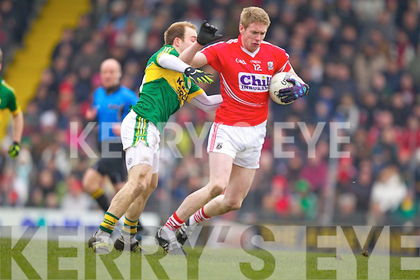 Darran O'Sullivan Kerry in action against Andrew O'Sullivan Cork in the National Football League at Austin Stack park, Tralee on Sunday.