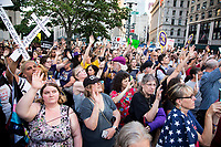 "Nationwide protest ""Lights For Liberty"" against the detention centers in New York City"