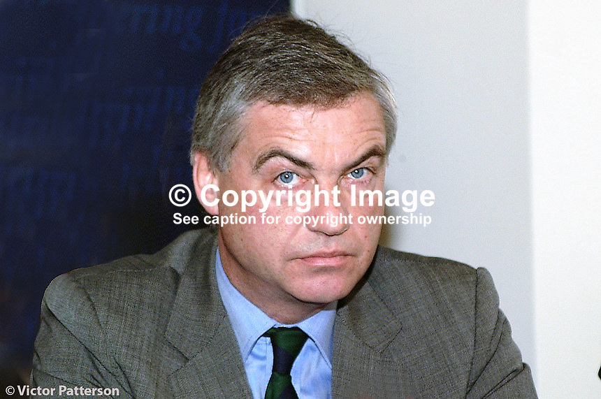 David Burnside, Ulster Unionist candidate for South Antrim, June 2001 UK General Election. He is also a public relations consultant and was once Press Officer for British Airways. Ref: 2001051905.<br />