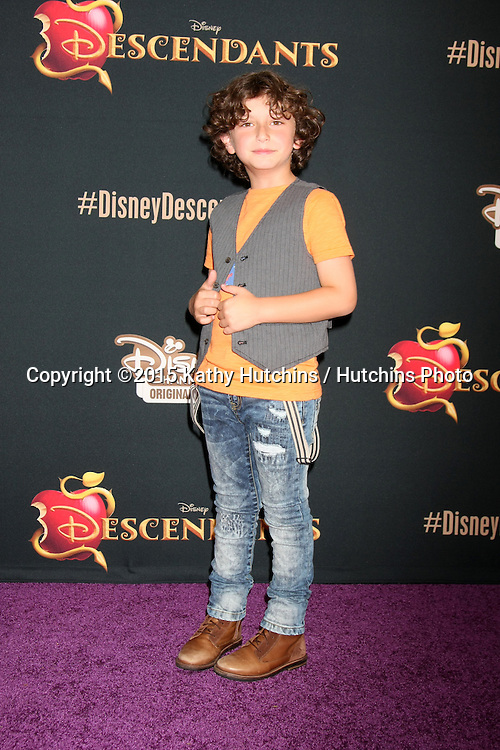 "LOS ANGELES - JUL 24:  August Maturo at the ""Descendants"" Premiere Screening at the Walt Disney Studios on July 24, 2015 in Burbank, CA"