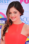 UNIVERSAL CITY, CA - JULY 22: Lucy Hale arrives at the 2012 Teen Choice Awards at Gibson Amphitheatre on July 22, 2012 in Universal City, California.